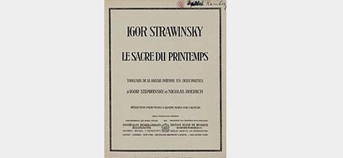 Stravinsky 'Rite' score