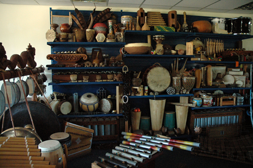 Dame Evelyn Glennie's studio